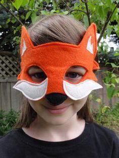 маска лисы на голову