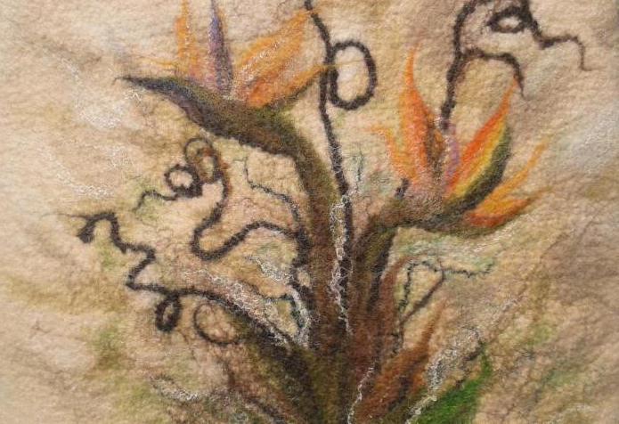 шерстяная акварель картины