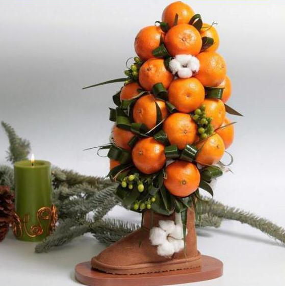 мандариновое дерево своими руками мастер класс