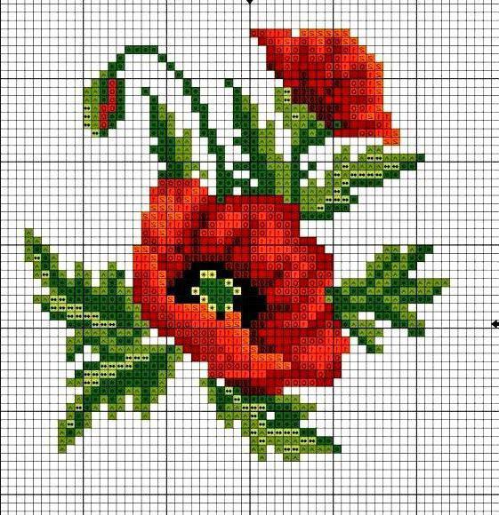 Схемы вышивки цветов самое интересное в блогах.