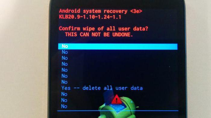 android system recovery 3e команды нет