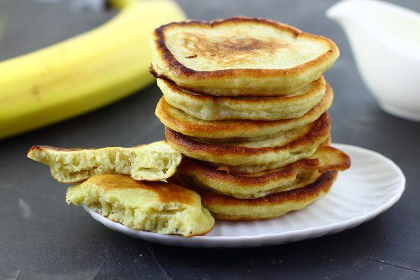 lush kefir pancakes with banana