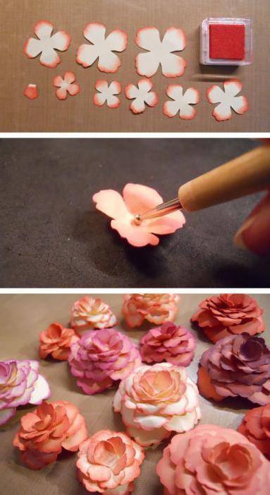 цветы для скрапбукинга своими руками мастер класс