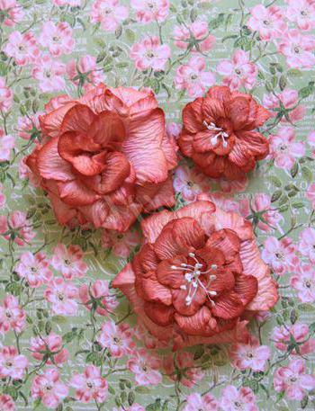 цветы для скрапбукинга своими руками