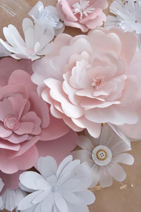 скрапбукинг цветы из бумаги своими руками