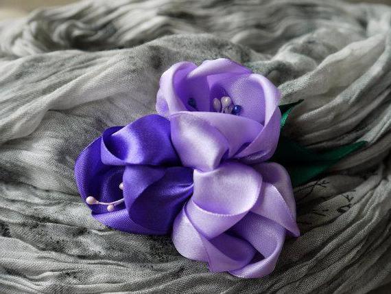бутон тюльпана канзаши