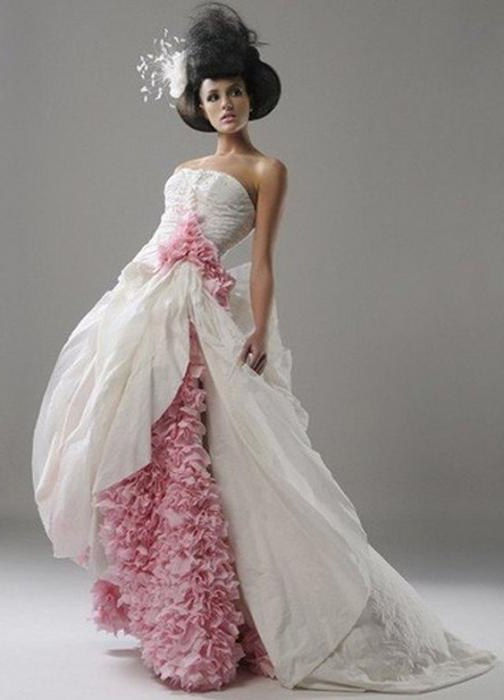 как сделать платье из гофрированной бумаги