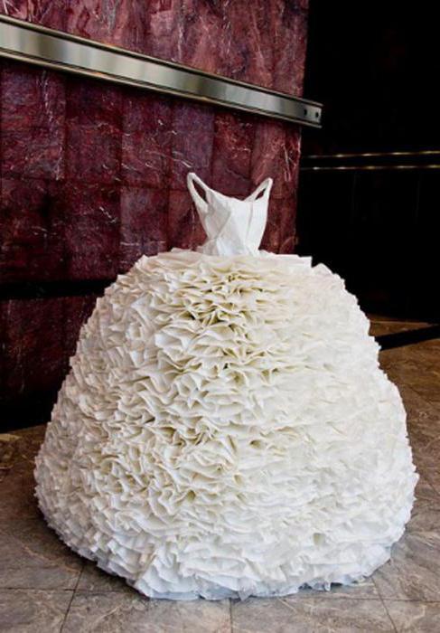 платье из гофрированной бумаги мастер класс
