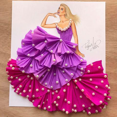 юбки из бумаги из цветов