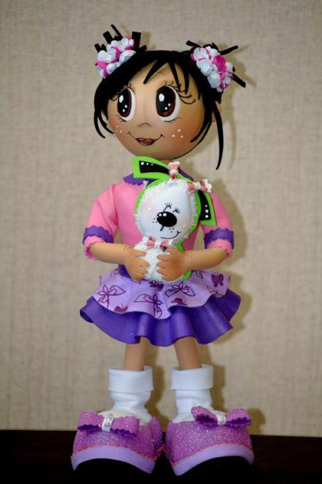 Как сделать голову для куклы из фоамирана