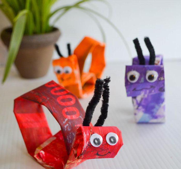 поделки насекомые своими руками из подручных материалов