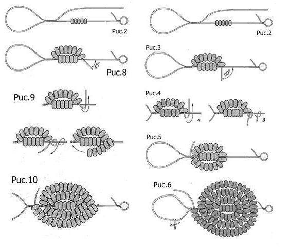 схемы кактусов из бисера схемы