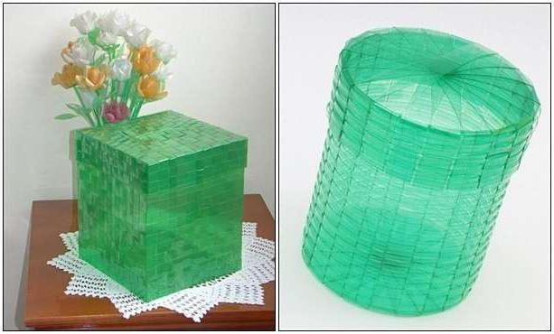 плетение корзин из пластиковых бутылок