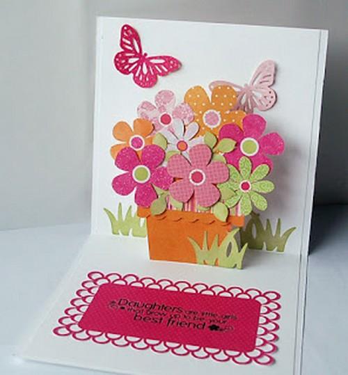 Как сделать объемную открытку на день рождения бабушке