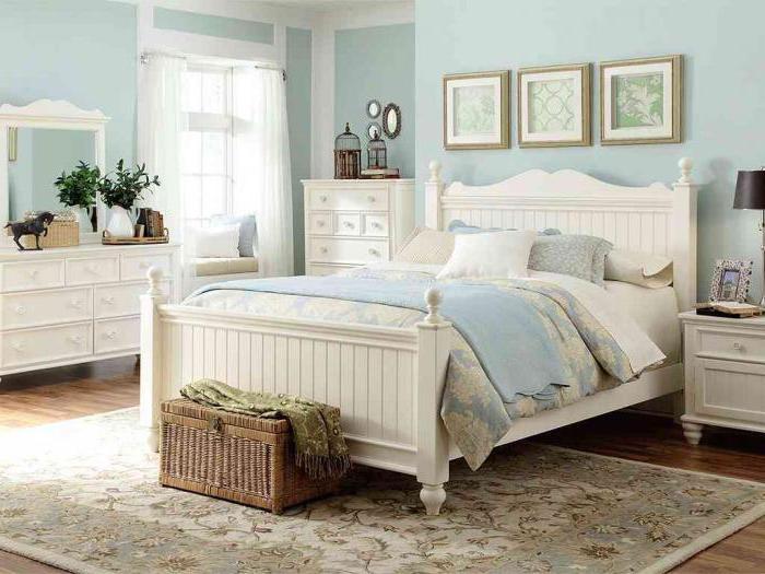 дизайн интерьера спальни стиле прованс