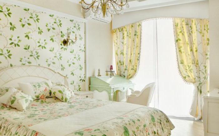 дизайн штор стиле прованс спальни