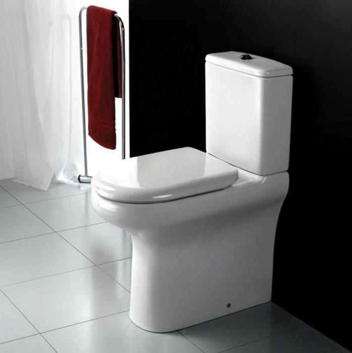 Компактный унитаз для маленького туалета