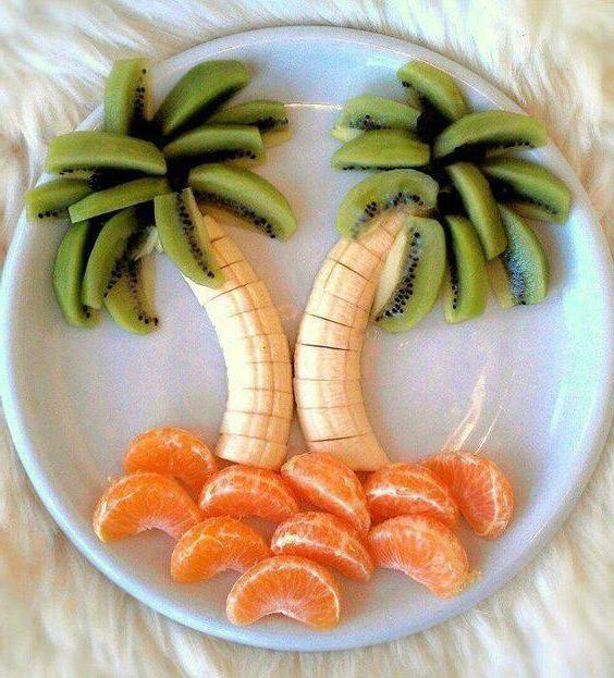 поделки из яблок и банан