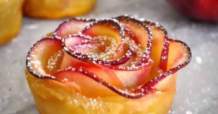 Розы из слоеного теста с яблоками рецепт пошаговый 77