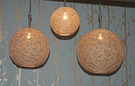 как сделать абажур из ниток и шарика