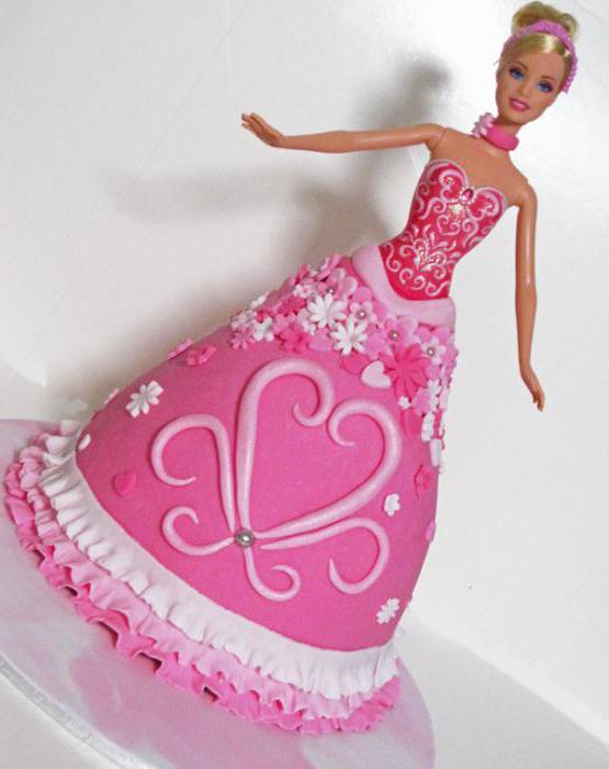 торт бело розовый