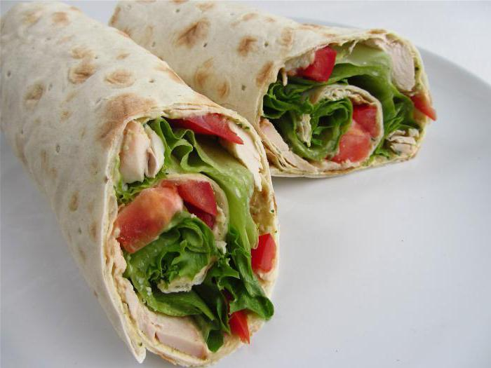 диетические бутерброды из лаваша