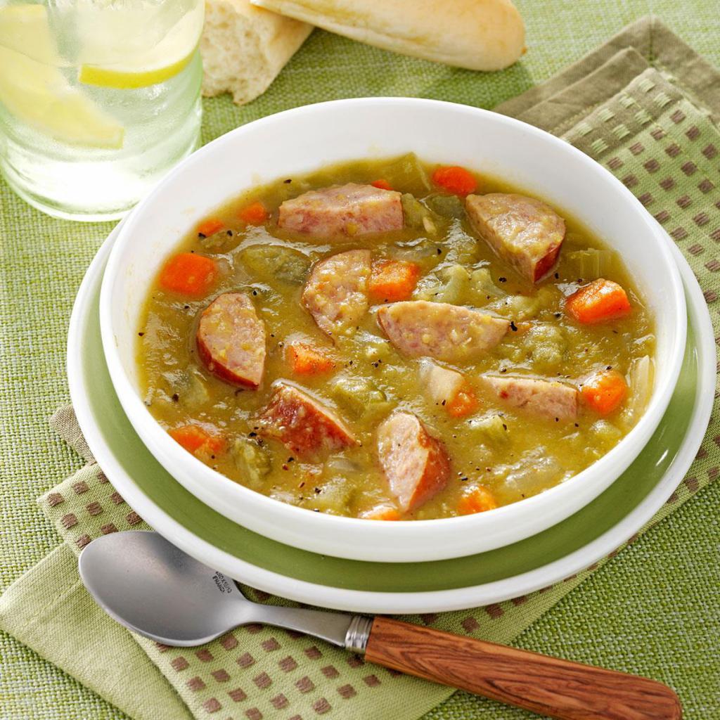 Как сделать суп гороховый с мясом