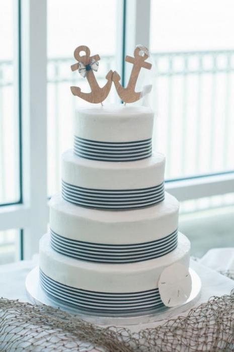 торт в морском стиле детский