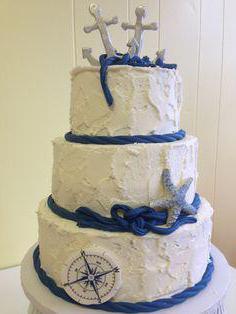 торт в морском стиле фото