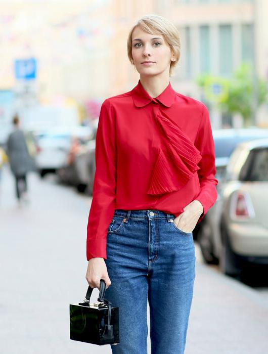 Блузка заправленная в джинсы в Уфе