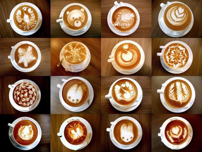 рисунки на пене кофе
