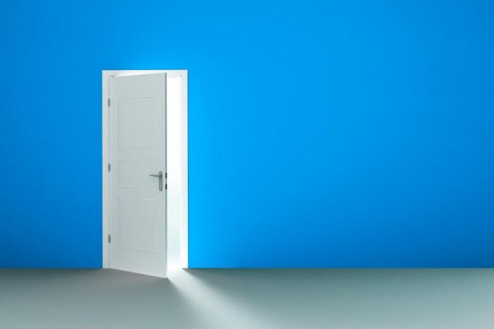 Левая дверь
