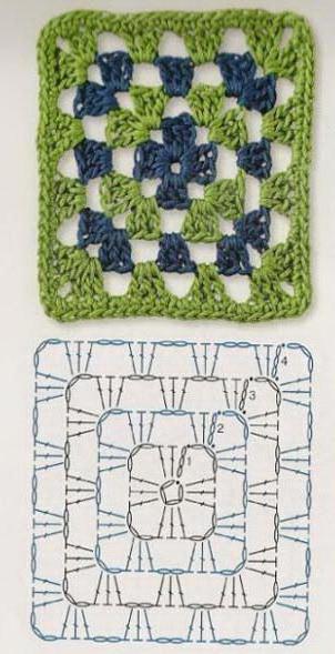 вязание тапок крючком из квадратов