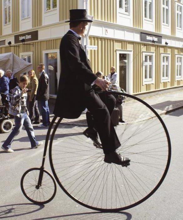 велосипед с большим передним колесом