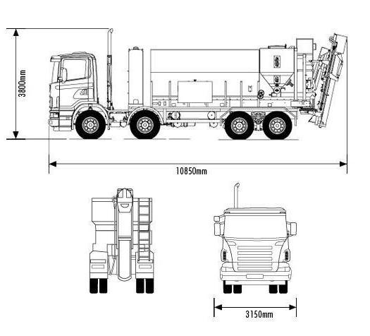 ширина грузового автомобиля