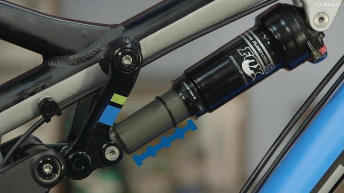 замена заднего амортизатора на велосипеде