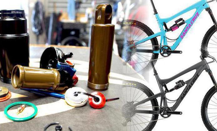 как смазать задний амортизатор на велосипеде