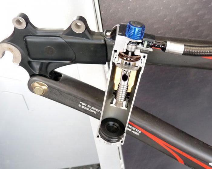 задний амортизатор для велосипеда