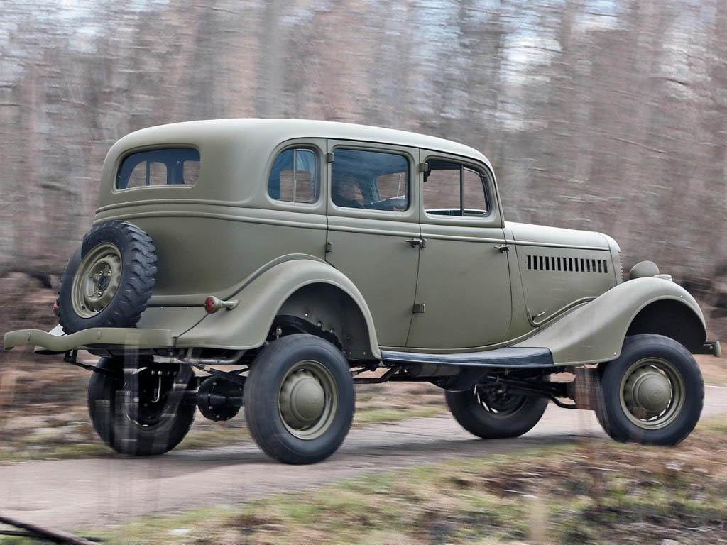 Exterior of the car GAZ-61