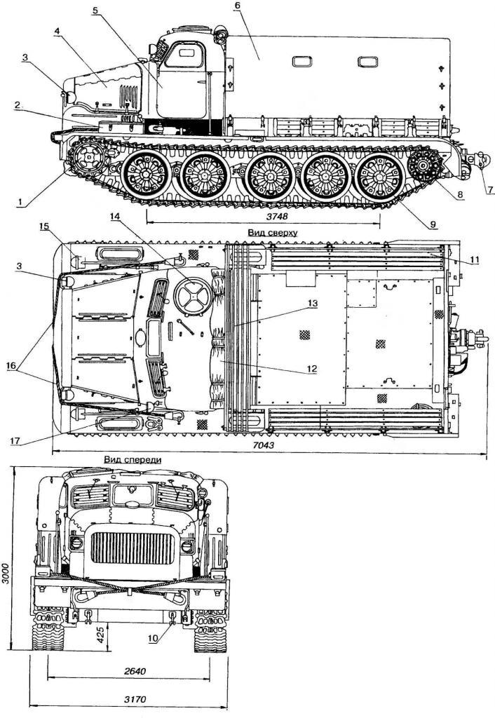 Схема тяжелого артиллерийского тягача