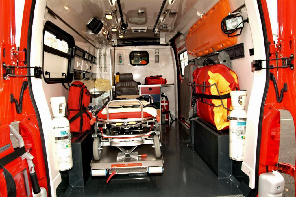 Оснащение машины скорой медпомощи