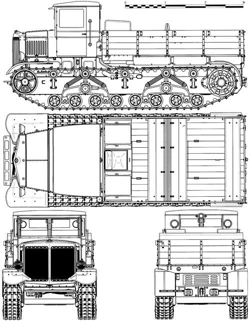 Схема тягача