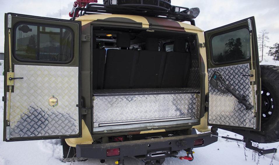 Тюнинг багажника авто УАЗ