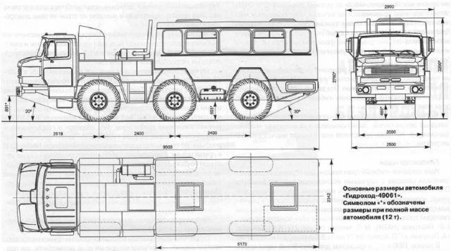 Схема автомобиля ЗИЛ 49061