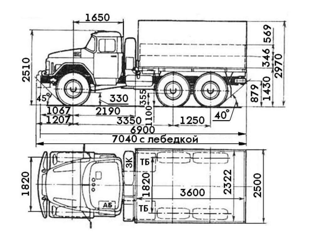 Схема авто ЗИЛ 131