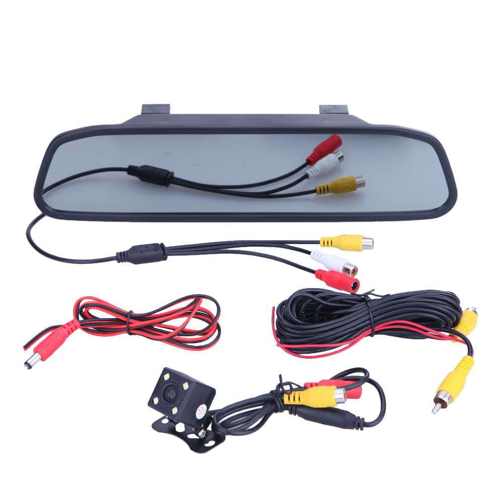 комплектация автомобильного монитора для задней камеры