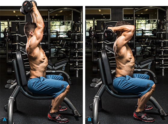 Triceps exercises for men