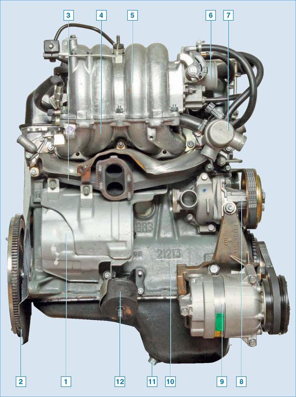 Двигатель 2123: вид справа