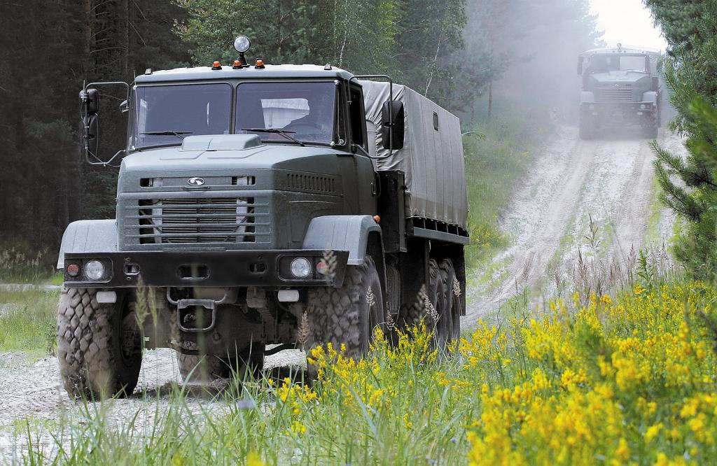 Военный грузовик КрАЗ