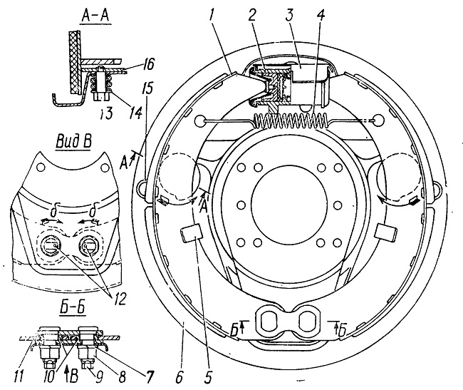 Колесный тормозной механизм ГАЗ-3309
